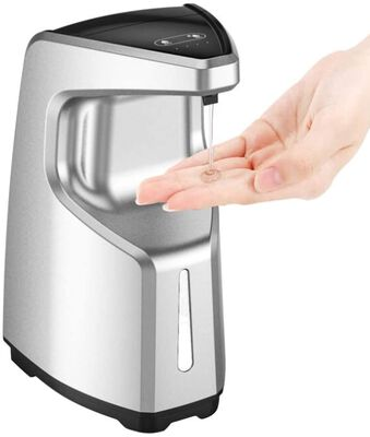 6. Hoxha silver battery operated touchless automatic soap dispenser with 4 volume levels