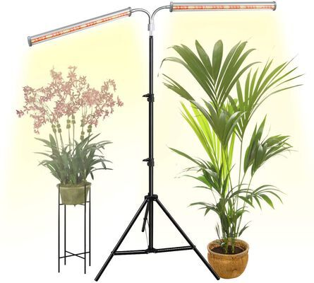 10. DOMMIA 70W 2.5 Ft – 6 Ft Adjustable Dual Bars Flexible Full Spectrum LED Grow Light for Indoor