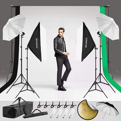 6. COSVALVE Photography Lighting Kit