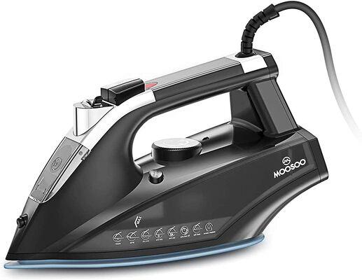 3. MOOSOO M 470ml Anti-Drip Auto-Off Non-Stick Soleplate Portable Home Steam Iron