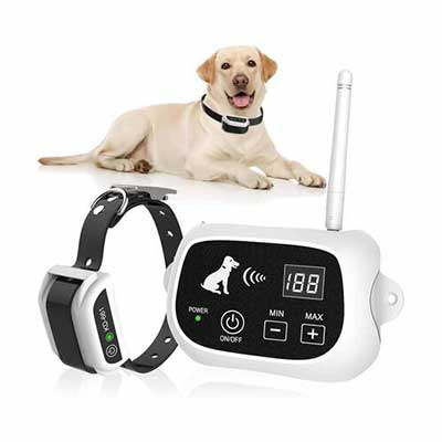 8. Feeke pet Wireless Dog Fence, Harmless for Every Dog
