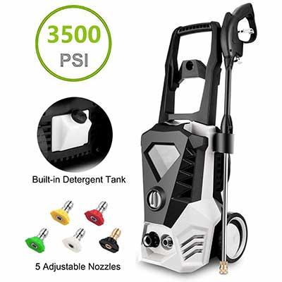 6. Electric Pressure Washer with Power Hose Gun