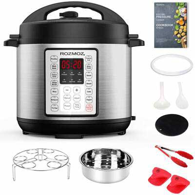7. Rozmoz Electric Pressure Cooker with an Instant Programmable Pressure Function