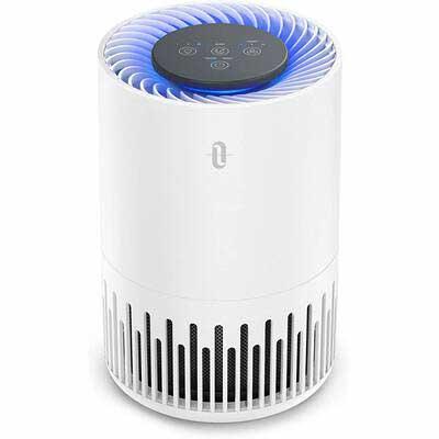 8. TaoTronics Sleep Mode Night Light Odor Dust True HEPA Filter Air Purifier for Bedroom Office