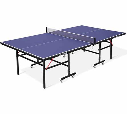 #7. MaxKare Foldable Ping Pong MDF Surface Indoor Table Tennis w/Caster & Easy Attach Net