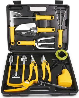 2. MOSFiATA 14-Pcs Stainless Steel Heavy-Duty Garden Tool Kit Work Set w/Carrying Case