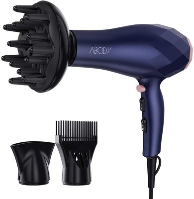 8. Abody Blue Lightweight and Quick Dry Hair Blow Dryer with Diffuser and Concentrator