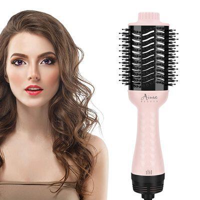 5. Aima Beauty Hair Dryer Brush, Pink