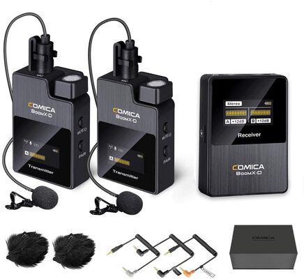 2. Comica BoomX-D2 Wireless Lapel 2.4GHz Dual Canon Nikon Wireless Lavalier Microphone