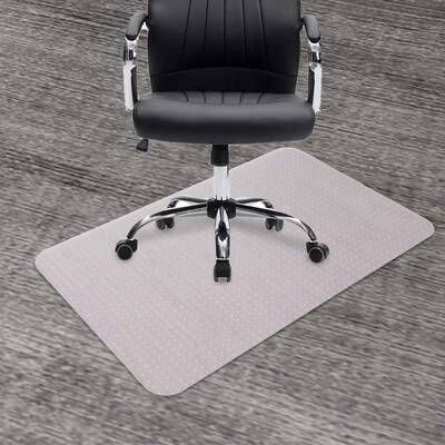 7. Seteol 30x48 Transparent Sturdy Thick Standard No Pile Carpeted Floor Protector Office Mat