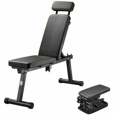 10. ZENOVA Full Body Training Folding Adjustable Weight Exercise Workout Bench for Office & Home
