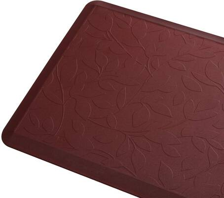 6. DAILYLIFE Anti-Fatigue Comfort Mat with a Non-Slip Bottom (Wine Red)