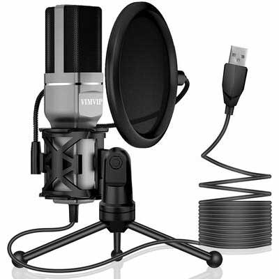 10. VIMVIP Pop Filter for Recording, Streaming, Podcasting Gaming USB Condenser Microphone