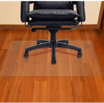9. AiBOB 30X48 Inch Easy Glide Hardwood Flat Floor Mat Office Chair Mat for Computer Desk