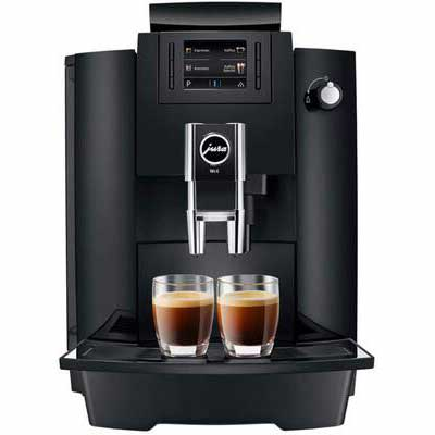3. Jura Huge Capacity TFT Display 17.7-Oz WE6 Coffee & Espresso Center (Piano Black)