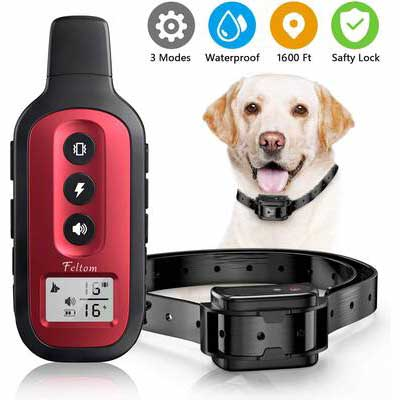 8. Feltom 1600 Ft. Waterproof & Rechargeable Shock Dog Training Collar w/Three Training Modes