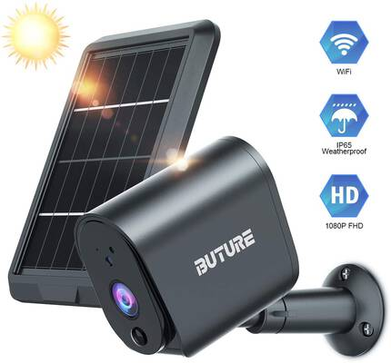 9. BuTure PIR Motion Detection 2-Way Audio IP65 Waterproof Security Camera Outdoor w/Solar Panel