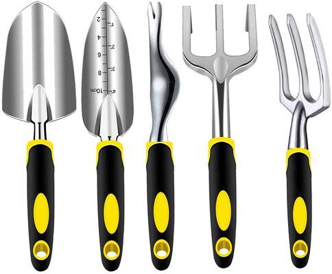 8. Anzmtosn Outdoor Weeder Shovel, Rake, Cultivator, Weeding Fork Stainless Steel Tools Kit
