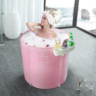 5. Keszing Freestanding Portable Hot Tub Ice Bathtub Firm & Safe Inflatable SPA Bathtub