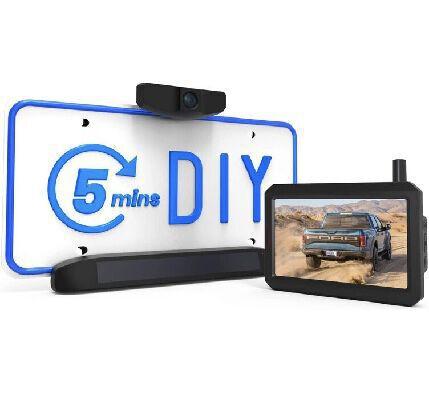 5. AUTO-VOX 5Inch HD DIY Installation Waterproof Rear View Solar Wireless Backup Camera
