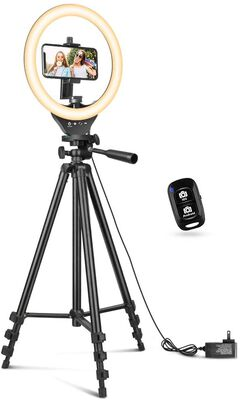 10. Sensyne 10 Inch Ring Light with Extendable Tripod Stand