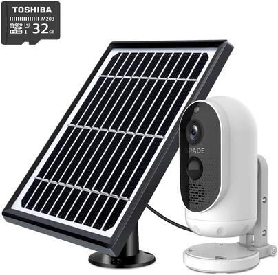7. SPADE 1080P IP65 Waterproof 1080P Wi-Fi Wireless Solar-Powered Security Camera