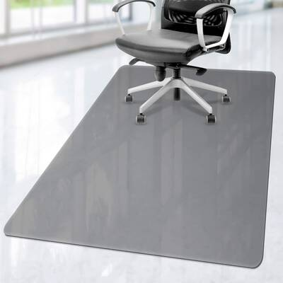 3. LezGo Transparent Black Premium Hard-Floor Heavy-Duty Transparent Carpet Chair Mat