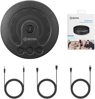 4. BOYA Omnidirectional 40 Hz – 15 kHz USB 3.5mm Jack Speakerphone Conference (Black)