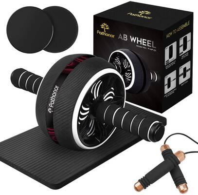 6. PATHONOR 4-in-1 Gym Equipment Ab Roller Wheel for Home Women & Men