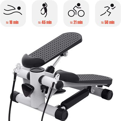 9. Real Relax Black Mini Stepper Machine with Adjustable Resistance and High Load Bearing