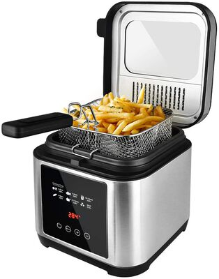 6. Cusimax 2.5L Oil Capacity Thermostat Removable Lid Cool Handle Electric Deep Fryer w/Basket