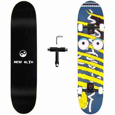 10. New Olym 4 Standard 7 Layer Complete Skateboard for Girls, Boys, Adults & Beginners