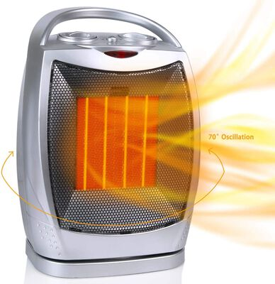 6. Minetom 750W/1500W Oscillating Ceramic Portable Space Heater