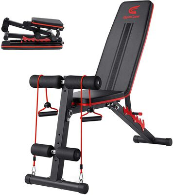 7. GymCope 7 Position Foldable Adjustable Weight Bench for Full Body Strength Training