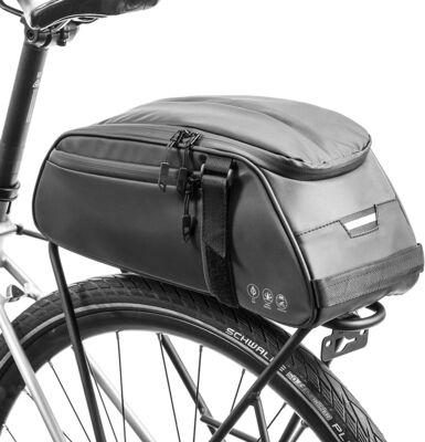 6. BAIGIO Waterproof Bike Trunk Bag, Black
