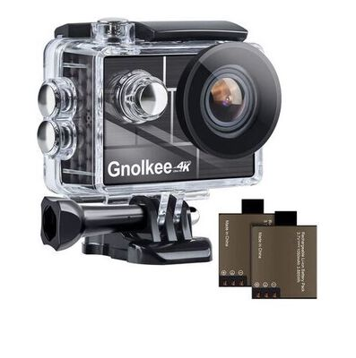 10. Gnolkee 170° Ultra Wide Angle and 100 Feet Waterproof WIFI Action Camera