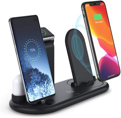 6. Show Wish Foldable & Compatible 7-in-1 Upgraded Wireless Charging Stand for Apple