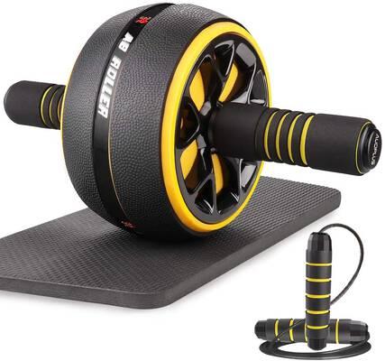 7. AUOPLUS 3.5'' Portable Abdominal Equipment Ab Roller Wheel for Men & Women
