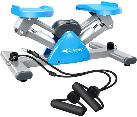 6. L NOW Exercise Equipment Mini Stepper Machine with Resistance Bands for Workouts