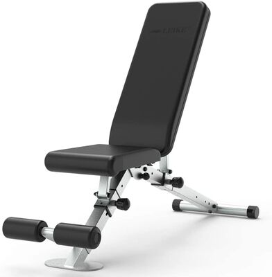 3. Leikefitness Black Adjustable Weight Bench for Full Body Exercise with Automatic Lock