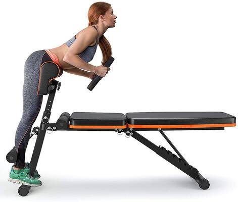 3. PERLECARE All-in-One Foldable Flat Decline Adjustable Workout Bench for Home Gym