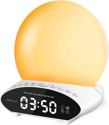 8. Merece 7 color night light Sunrise Alarm Clock with Dual Alarms and Snooze Function