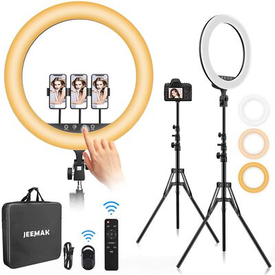 5. JEEMAK Ring Light with a Stand