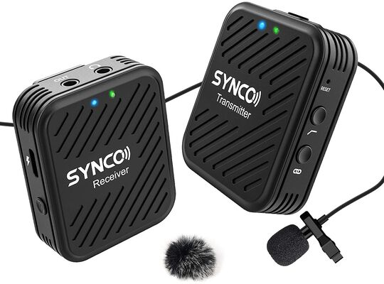 4. SYNCO A1 2.4 GHz Transmitter Receiver & External Lav Wireless Lavalier Mic Unit for Smartphone