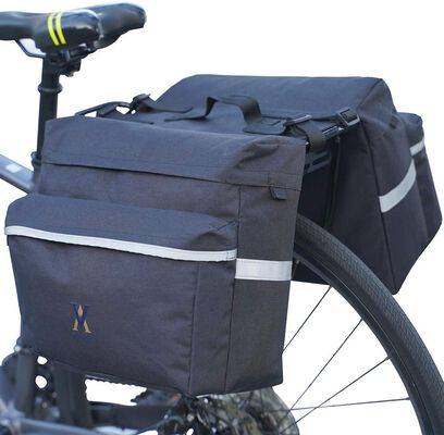 9. Vuudh Water-Resistant Bike Pannier Bag with a Reflective Trim