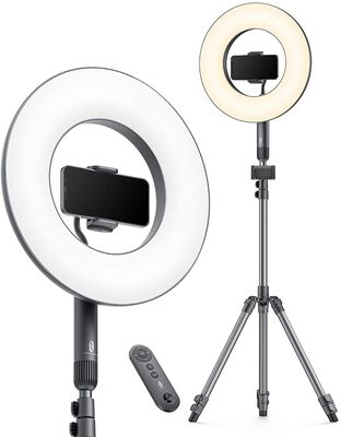 2. TaoTronics 14 Inch Ring Light with a Tripod Stand