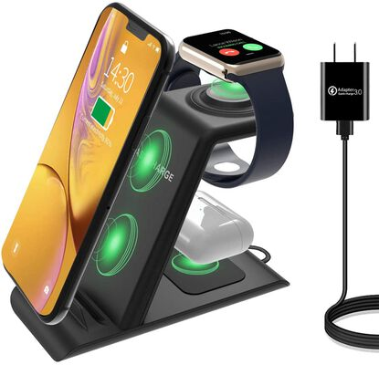 1. HATALKIN 3-in-1 Multiple Devices Wireless Charging Stand w/Apple Products
