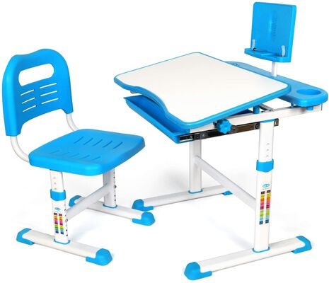 9. Yoleo Non-Reflective Ergonomic Kids Table and Chair Set with Flexible Adjustments