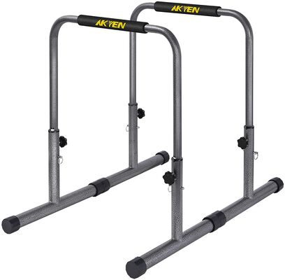 5. Akyen Adjustable Dip Bar Training Station with 300lbs Weight Capacity and Parallel Bars