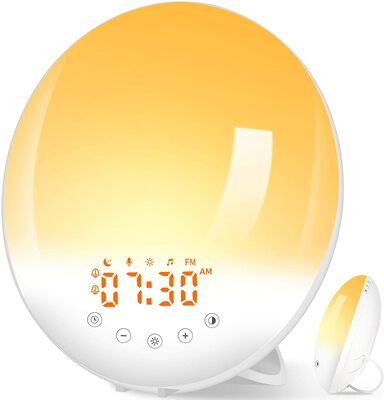 9. Pandawill 30 Adjustable Brightness and 8 natural Sounds Sunrise Alarm Clock
